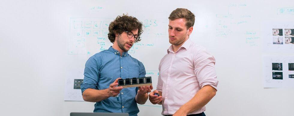 Two Men Having Conversation